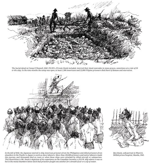 Drawings by Ben Steele. Click on them to see the larger version on the New York Times Web site.